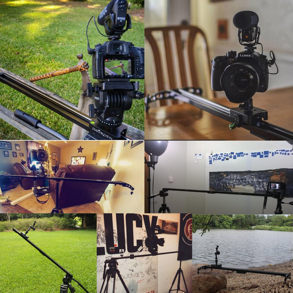 IMORDEN 48''/120cm Ball-bearing Slider for DSLR Camera, Phone and Gopro (Max Load: 15lbs)for Youtuber, Use on Tripod by IMORDEN