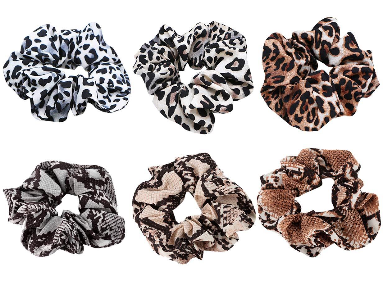 Hair Ties 7//8Pcs//Set Hair Scrunchies Leopard Print Elastic Mini Hair Ring