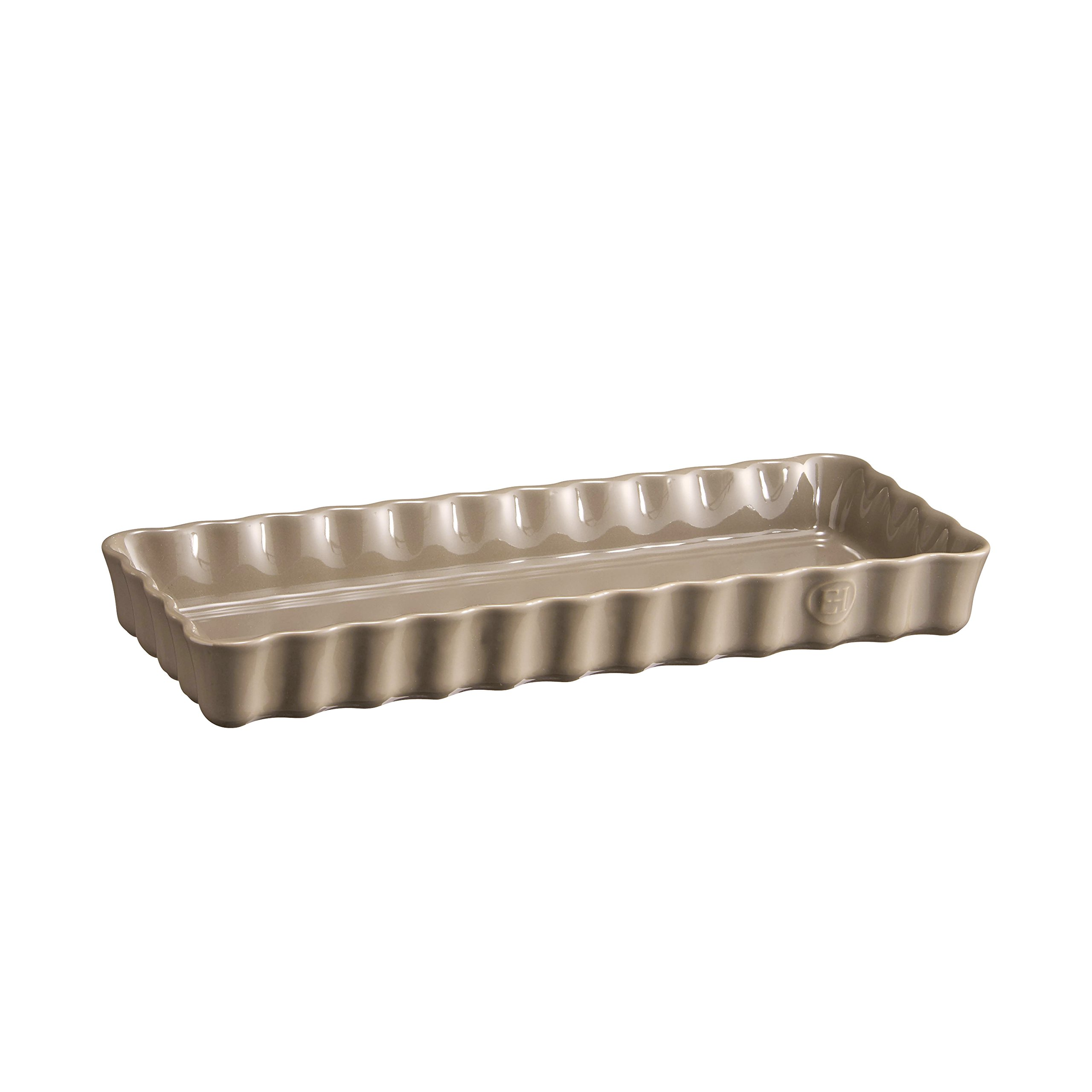 Emile Henry 956034 Slim Tart Dish, 1.4 Quart, Flint