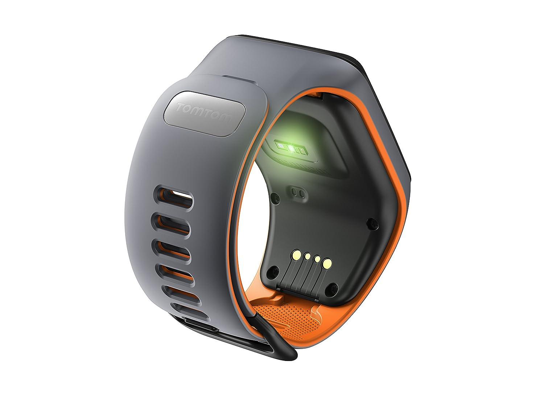 TomTom - Correa reloj para Runner 3, Spark 3, Runner 2, Spark, Adventurer, Golfer 2, Unisex Adulto, Gris / Naranja, S: Amazon.es: Electrónica