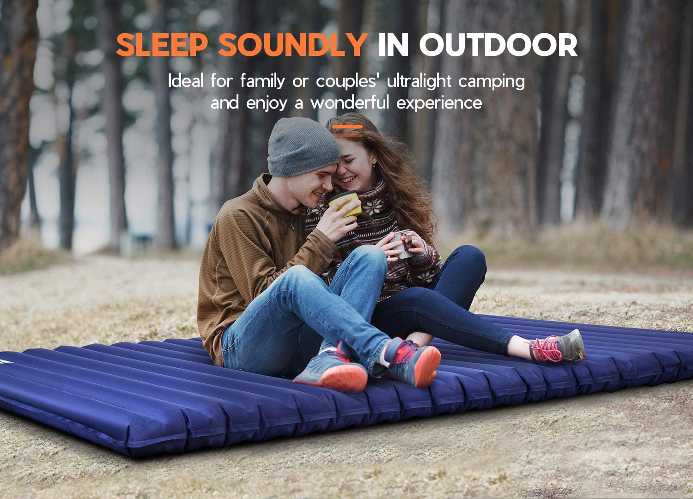 Hikenture Double Sleeping Pad Camping Mattress 2 Person