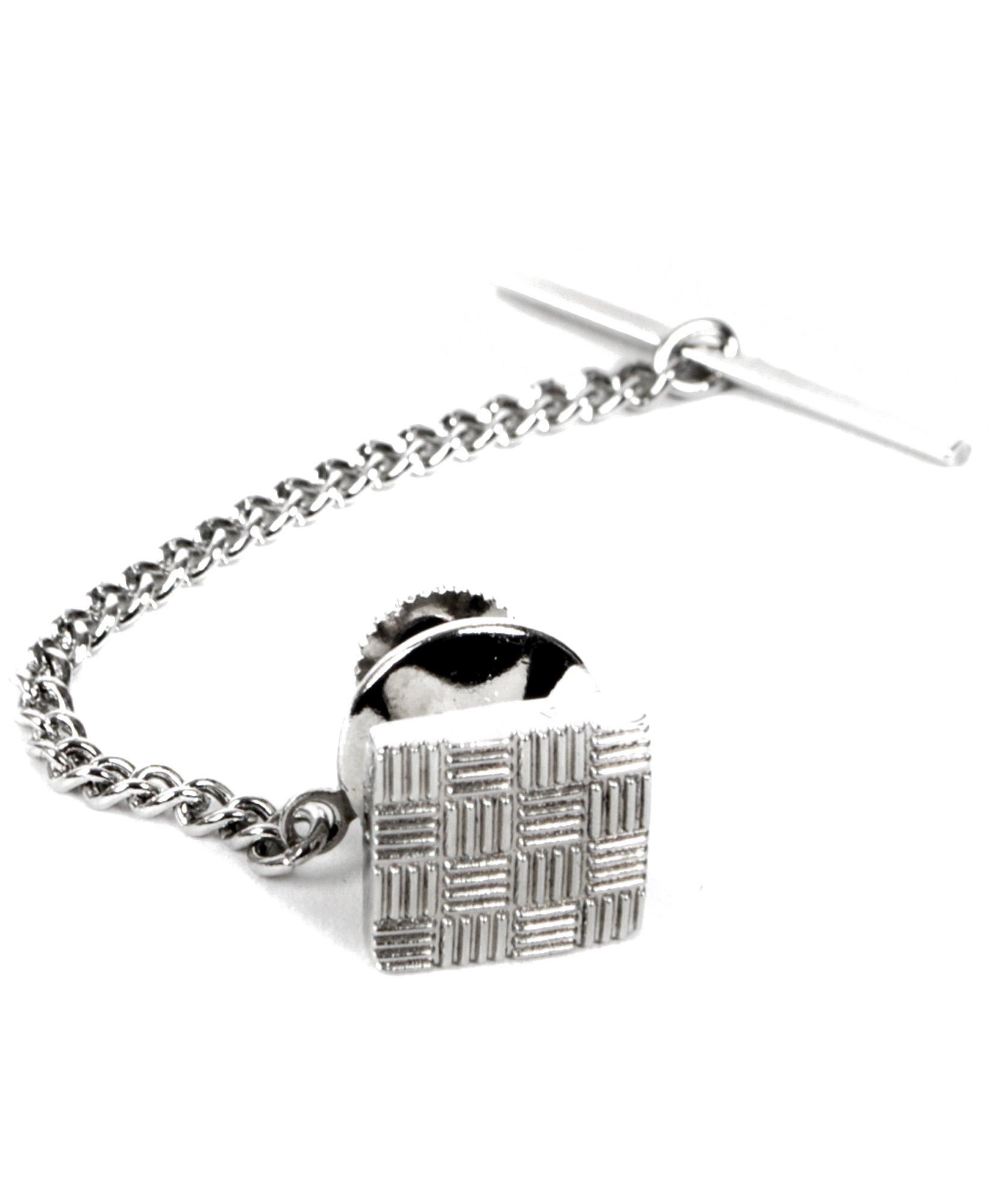 Patchwork Premium Tie Tack (Silver)
