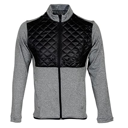 8ed43a36f adidas Golf 2016 Climaheat Prime Fill Insulated Quilted Mens Golf Thermal  Jacket Dark Grey Heather/