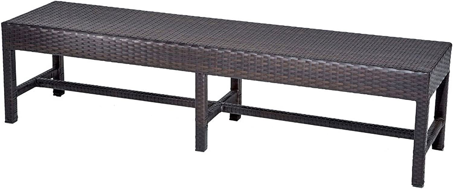 TK Classics Bench Belle Dining Outdoor Furniture, Espresso