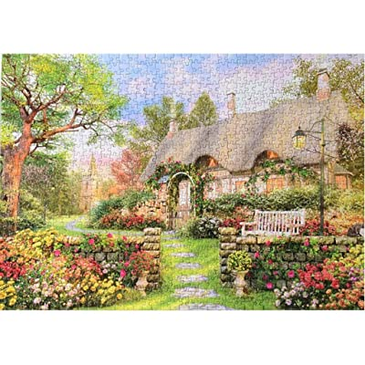 Jigsaw Puzzles 1000 Pieces Puzzles for Adults Children Country Cottage Painting, Landscape 70 x 50cm/ 27.56 x 19.69inch Large Puzzles For Adults or Kids 14 and up Ages: Home Improvement
