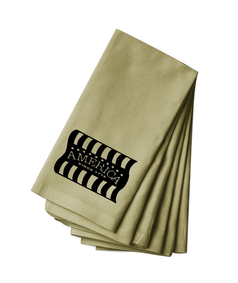 Style in Print Cotton Canvas Dinner Napkin Set Of 4 America Since 1776#3 By