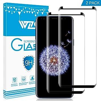[2-Unidades] Protector de pantalla Galaxy S9, WZS® Cristal Vidrio Templado Premium Para Samsung Galaxy S9: Amazon.es: Electrónica