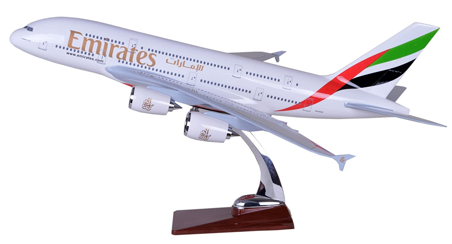 Amazon.com: Tang-Dynasty(TM 47cm Air Bus A380 Emirates Airline ABS ...