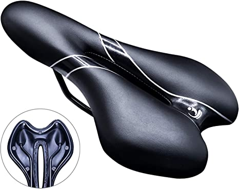 PROZADALAN Sillín Bicicleta Comfort Gel, Asiento de Bicicleta PU ...