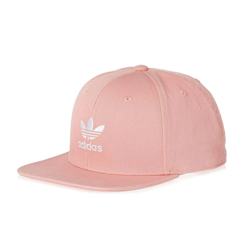 e33eca30bf8 adidas Originals Ac Cap TRE Flat Cap One Size Dust Pink White at Amazon  Men s Clothing store