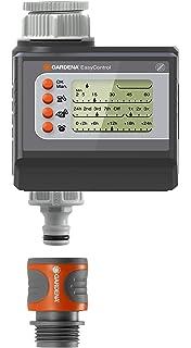 Programador de riego EasyControl de GARDENA: control automático del riego, riego diario o cada
