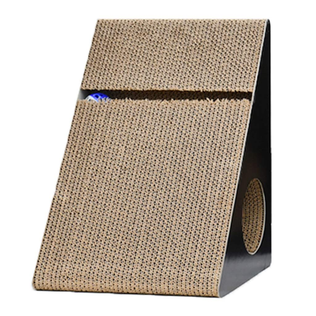Brown 28.239.759.7cm Brown 28.239.759.7cm Cat Caves & Houses Cat House Corrugated Cat Scratch Board Triangle Cat Climbing Frame Cat Tree Claw Jumping Cat Supplies (color   Brown, Size   28.2  39.7  59.7cm)
