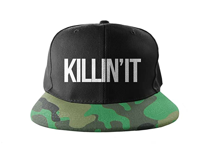 bb3ec4e5e0a Image Unavailable. Image not available for. Color  Killin  It Camouflage  Print Snapback Hat ...