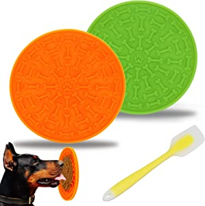 N\A INGRIDOG Lick Mat for Dogs,Silicone Licking Mat for Dogs Bathing, Pet Training Licking Mat for Food