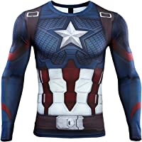 NEPIA GYM Infinity War Iron Man Compression Shirt for Men's Fitness Top