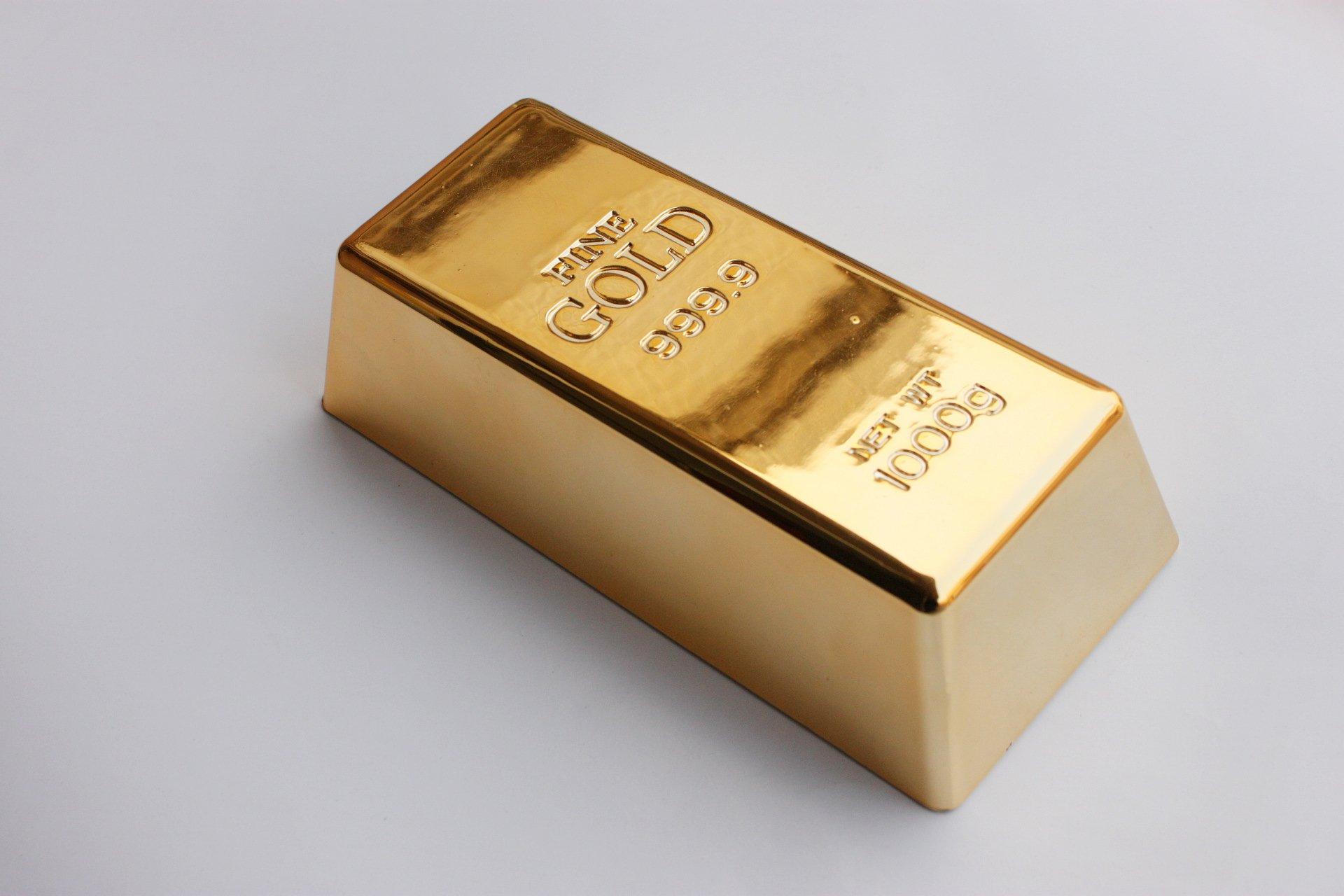 SummitLink Realistic Replica Gold Bar Brick Prop Novelty Gift Joke Doorstop (Solid)