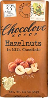 product image for Chocolove Xoxox Premium Chocolate Bar - Milk Chocolate - Hazelnuts - 3.2 oz Bars - Case of 12 - Kosher