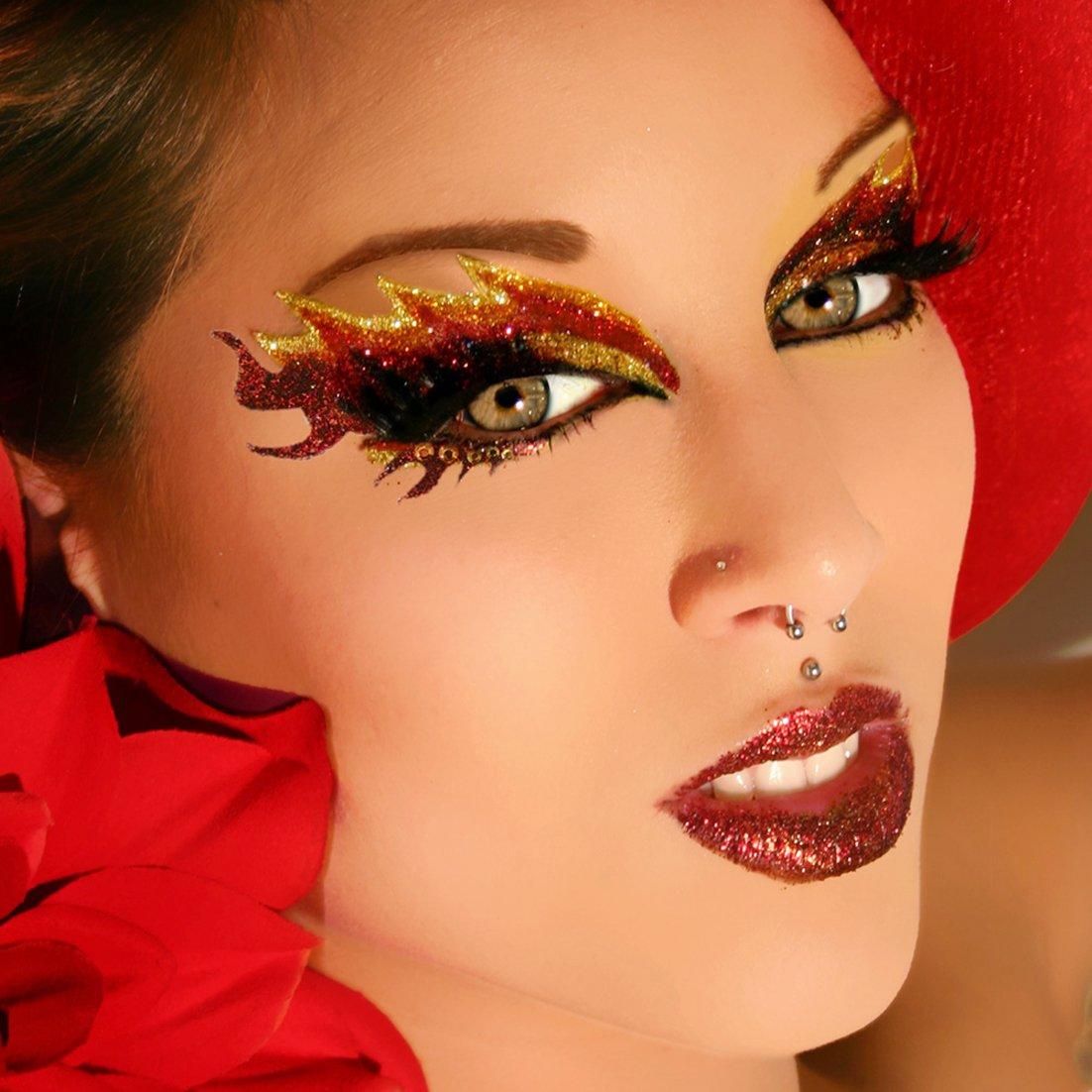 Amazon Blaze Glitter Eyes False Eyelashes Eye Paint Eye Art