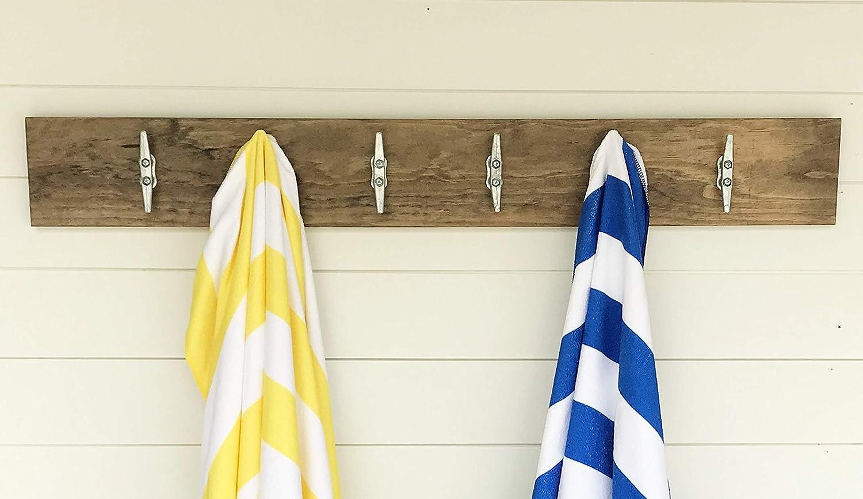 Entry Way Coat Rack Nursery Nautical Decor Boat Cleat Towel Rack Coat Hook Rustic Lake House Decor Rustic Bathroom Robe Hook