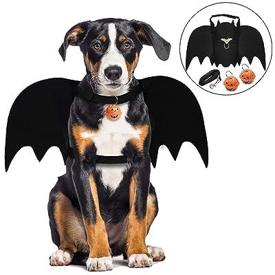 Alas de Perro, Disfraz de Perro de murciélago de Halloween/alas de murciélago de Perro/Disfraz de Perro/Disfraces de Halloween para Mascotas para Perros medianos Grandes decoración de Cosplay: Productos para mascotas
