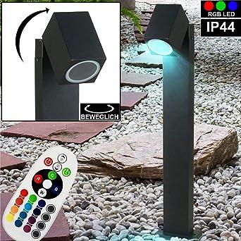 RGB LED Steh Lampe Spot Strahler schwenkbar Tisch Leuchte dimmbar FERNBEDIENUNG