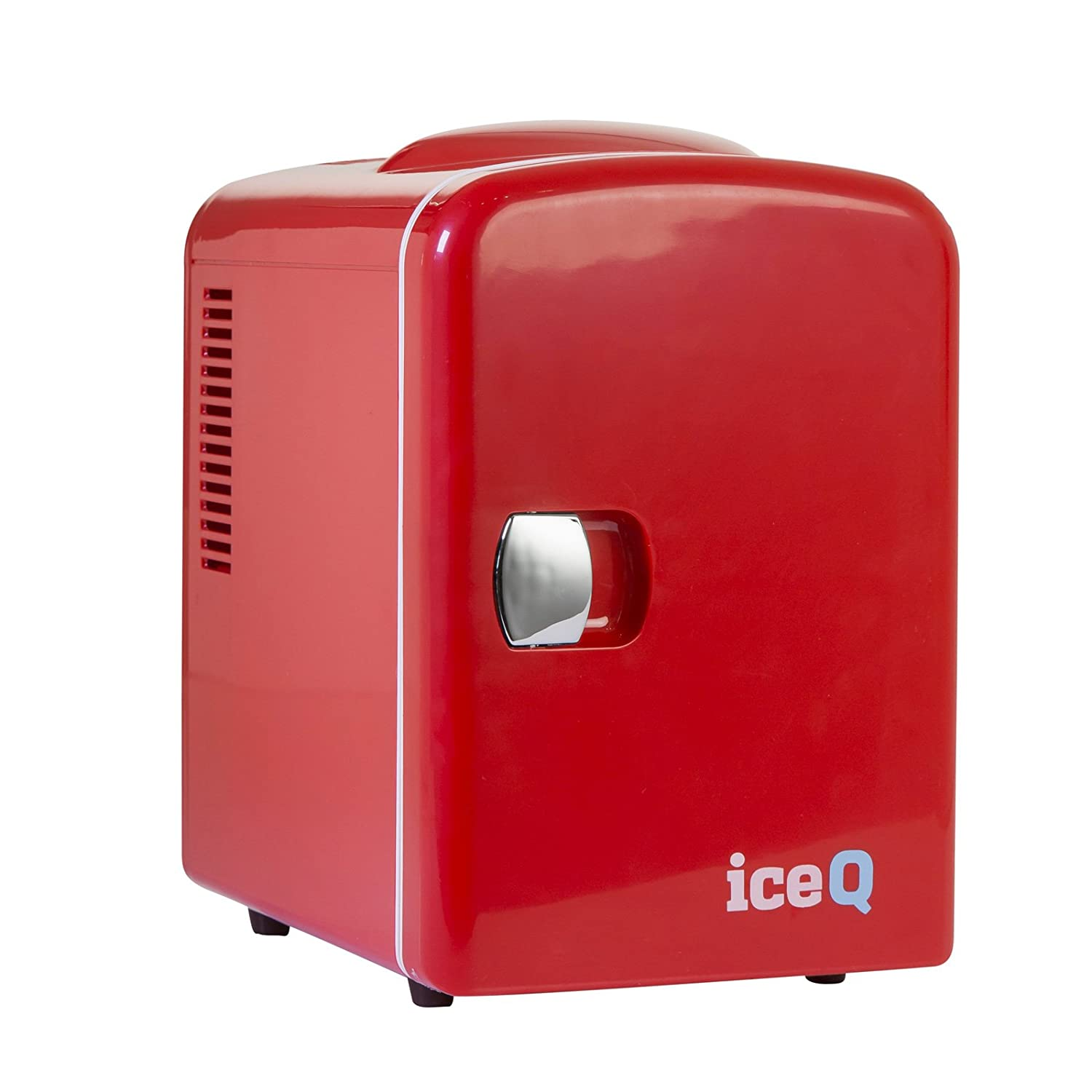 iceQ 4 Litre Small Mini Fridge Cooler - Red [Energy Class A] ICEQ4R