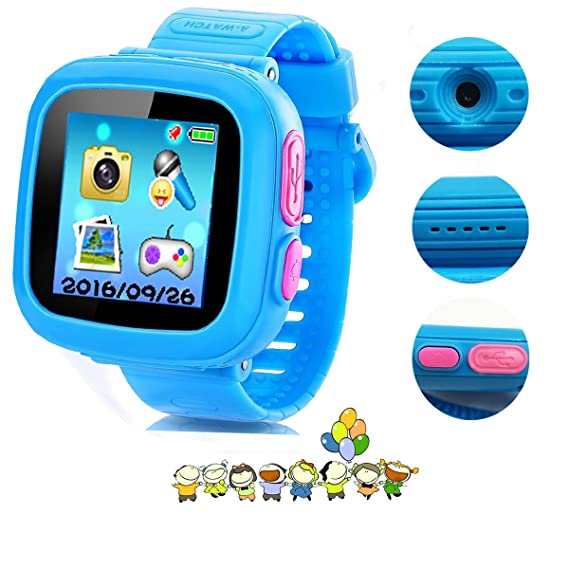 Amazon.com: Kids Smart Watch,Educational Game Watch for Kids Girls Boys, Learning Toys 3-10 Years Old Holiday Birthday Gifts (Blue): Cell Phones & ...