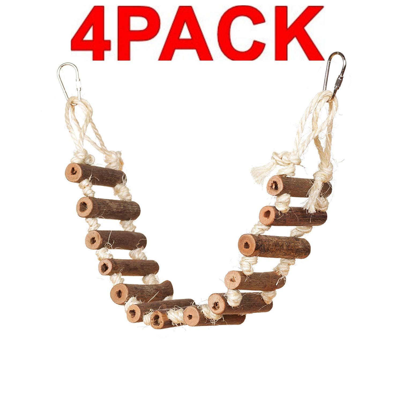 Prevue Hendryx 62806 Naturals Rope Ladder Bird Toy (4-Pack) by Prevue Hendryx