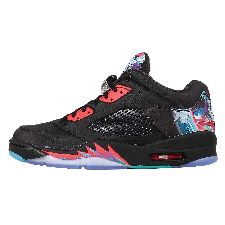 20855661c343e3 Nike Mens - Air Jordan 5 Retro Low CNY  RARE  - Black Bright Crimson Blue -  UK 14  Amazon.co.uk  Shoes   Bags