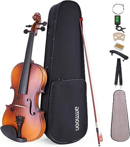 ammoon 1/4 Violín Principiantes, con Estuche Soporte de Hombro Sintonizador Afinado Cuerdas, etc: Amazon.es: Instrumentos musicales