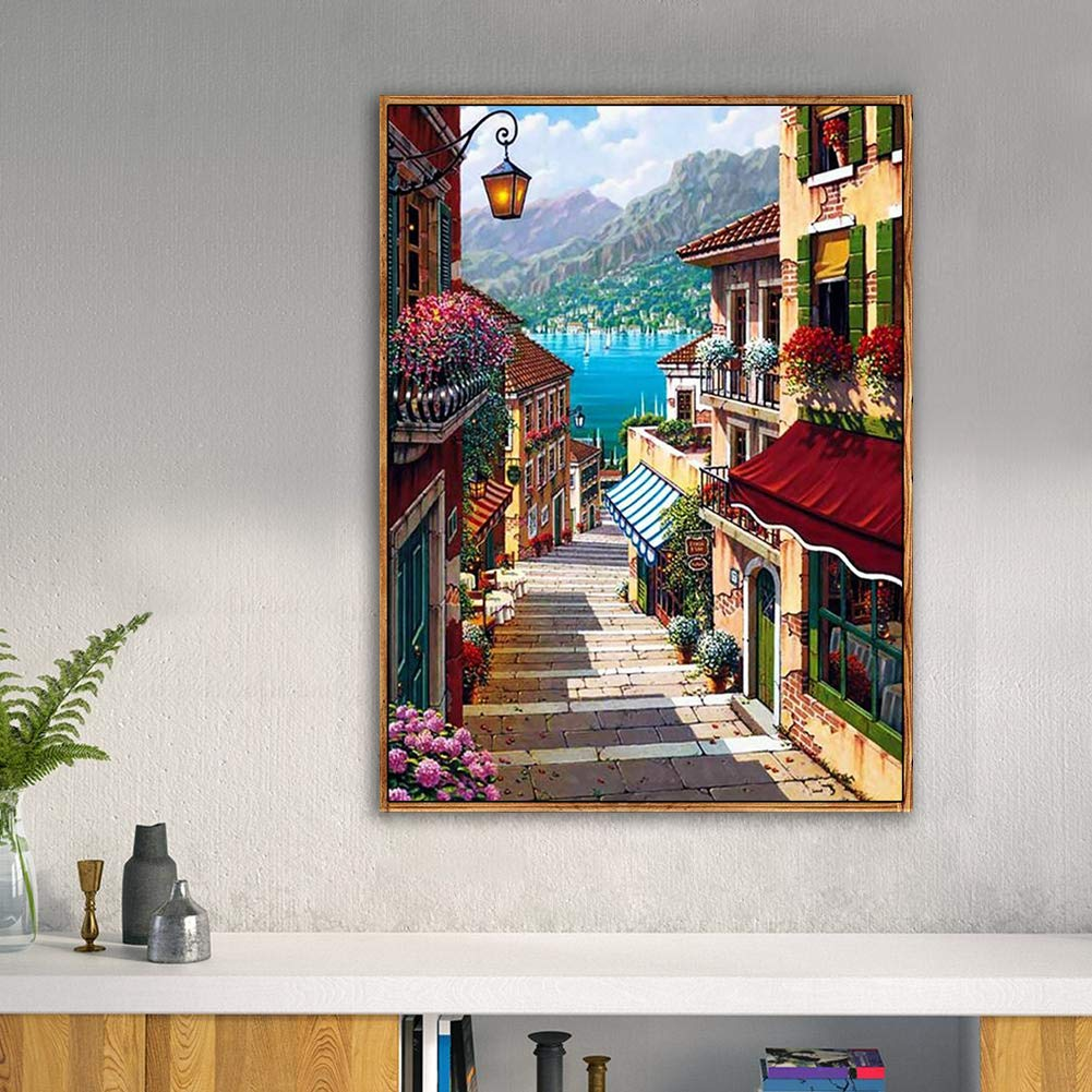 DIY 5D Diamond Painting Kits for Adults Full Drill Embroidery Paintings Rhinestone Pasted DIY Painting Cross Stitch Arts Crafts for Home Wall Decor Cat Butterfly 30X40cm