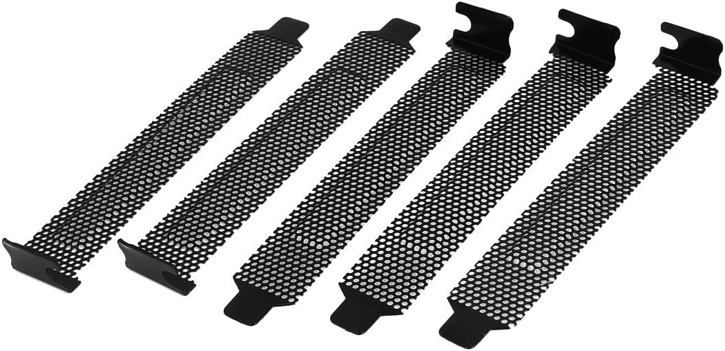 10 Pack Black PCI Slot Cover Hard Steel Dust Filter Blanking Plate with Screws AUEAR