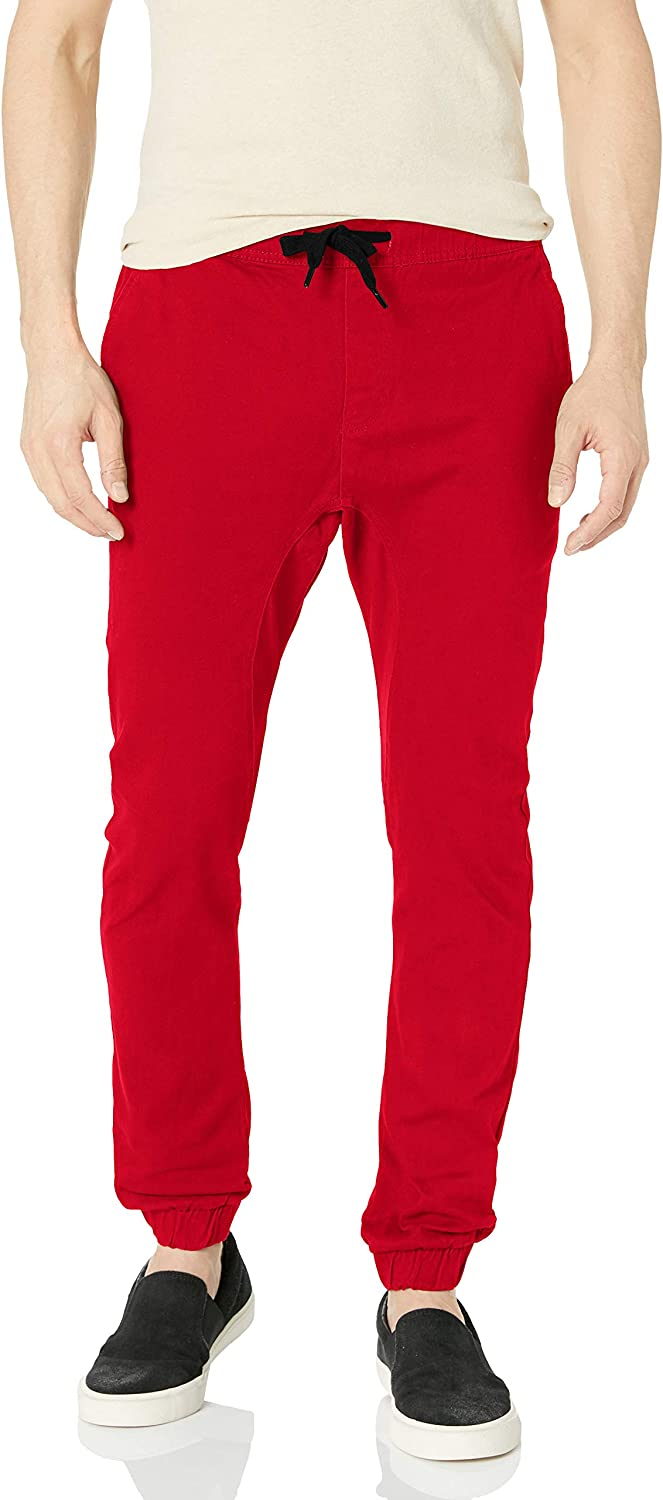 Southpole Men's Basic Stretch Twill Jogger Pants-Reg and Big & Tall Sizes: Clothing