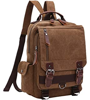 293cfaefb1c FEOYA Novedad Mochila de Lona Bolso de Pecho Bolsa Vintage Casual  Multifuncional para Hombre Mujer Viaje
