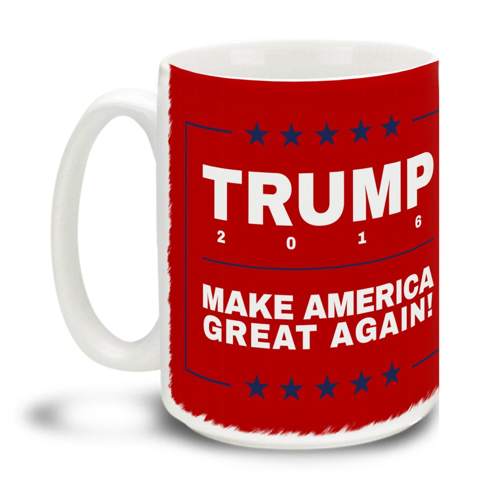 Donald Trump Make America Great Again Red 15 Ounce Coffee Mug