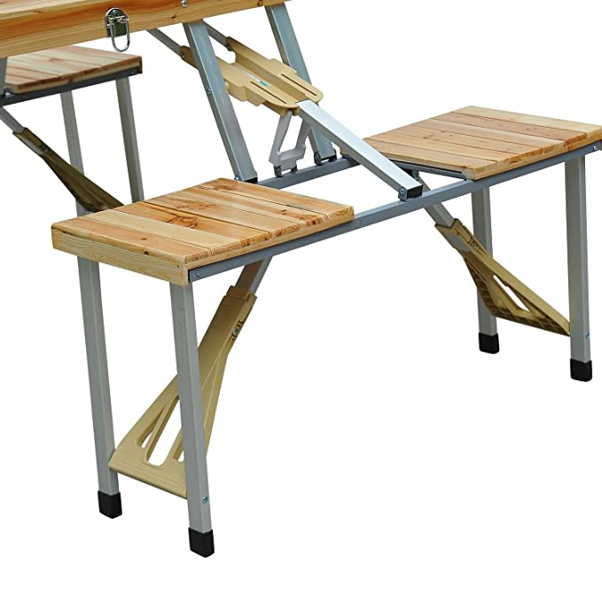 Amazon.com : Mybesty Wooden Camping Picnic Table Bench Seat ...