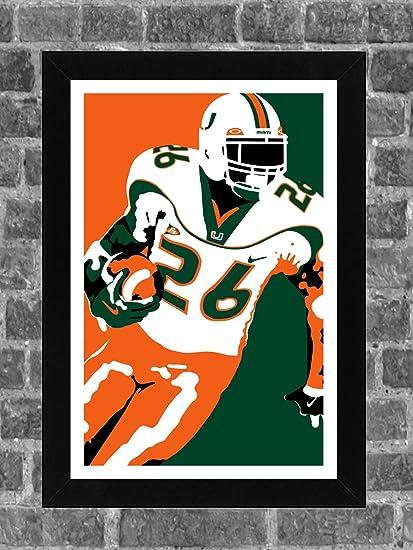 cheaper 789c3 e5ab0 Miami Hurricanes Sean Taylor Portrait Sports Print Art 11x17