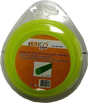 Bricoferr BF098 Hilo para desbrozadora (1,6 mm x 15 metros, redondo): Amazon.es: Bricolaje y herramientas