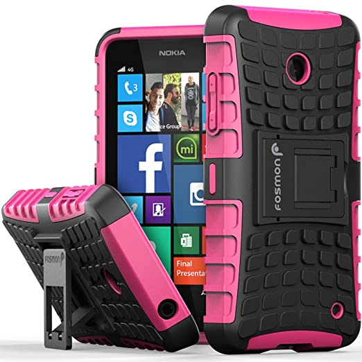 1 opinioni per Fosmon Nokia Lumia 635 Case (HYBO-RAGGED) Dual Layer Protection Heavy Duty