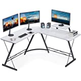 "Coleshome L Shaped Desk, 51"" Home Office Desk with Shelf, Gaming Computer Desk with Monitor Stand, PC Table Workstation…"