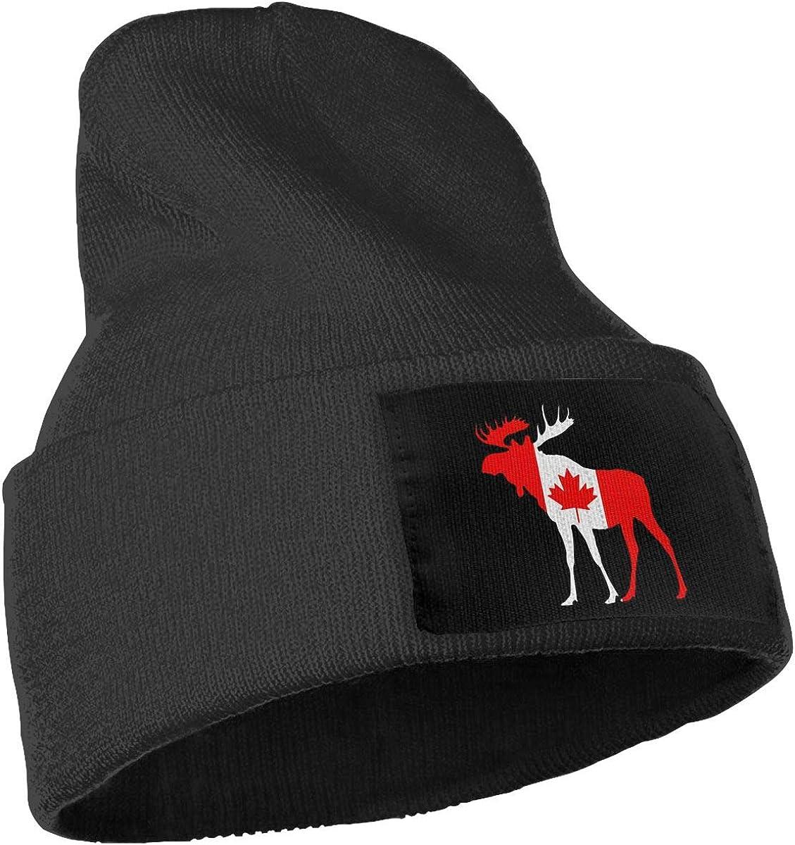 COLLJL-8 Men//Women Canada Flag Moose Outdoor Fashion Knit Beanies Hat Soft Winter Knit Caps