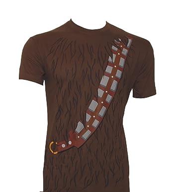 Star Wars T Shirt Chewbacca Mit Gurt Braun Amazon De Bekleidung