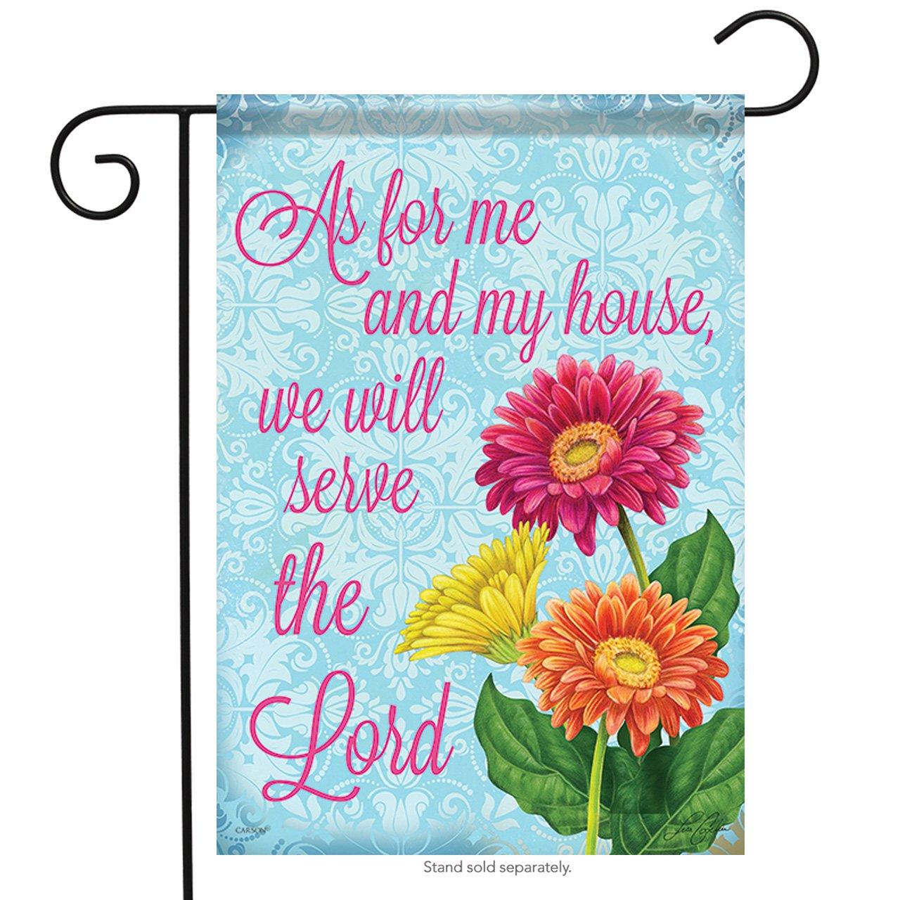 Carson Home Accents FlagTrends 46945 Serve The Lord Classic Outdoor Garden Flag, Country