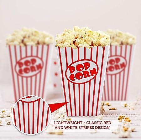 SHATCHI papel palomitas de maíz de cartón, temáticas de cumpleaños, noches de cine, carnaval, fiestas, cajas de comida, color rayas rojas y blancas. (Gifts 4 All Occasions Ltd 11691): Amazon.es: Juguetes y