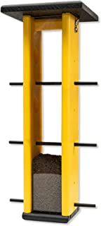 product image for Tall Finch Hanging Poly Bird Feeder (Black & Lemon Yellow)