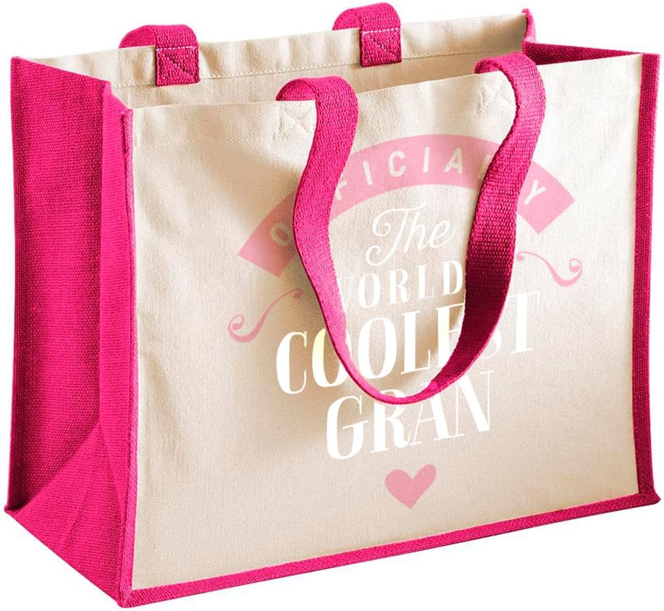 Cr/éa03 Tote Bag ou Sac Shopping Elue Mamie de lann/ée 100/% Coton