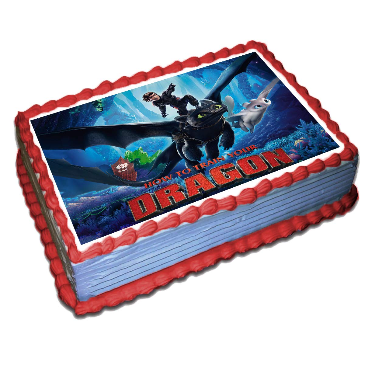 Tremendous How To Train Your Dragon 3 Cake Toppers Icing Sugar Paper 8 5 X Personalised Birthday Cards Veneteletsinfo
