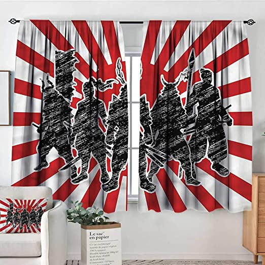 Cortinas japonesas para Sala de Estar, diseño Retro de ...