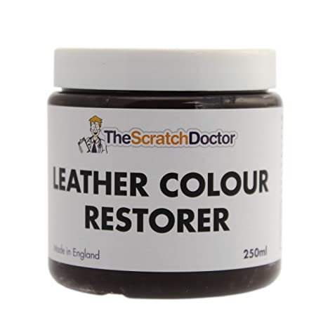 the scratch doctor dark brown leather colour restorer for faded and rh amazon co uk Leather Dye Walmart Leather Dye Spray