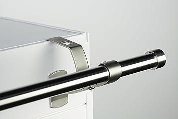 2 supports sans perçage design pour tringle à rideaux diamètre 20 mm ...